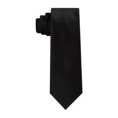 JF J.Ferrar Solid Tie with Tie Bar
