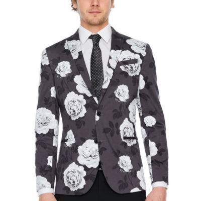 JF J.Ferrar Black Rose Slim Fit Sport Coat