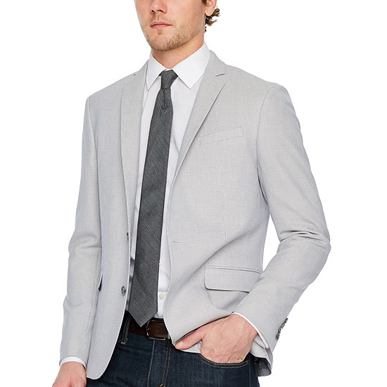 JF J.Ferrar Mens Knit Super Slim Fit Sport Coat