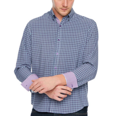 Society of Threads 4 Way Stretch Long Sleeve Plaid Button-Down Shirt