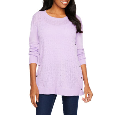 Planet Motherhood Cable Stach Nursing Friendly Sweater - Maternity