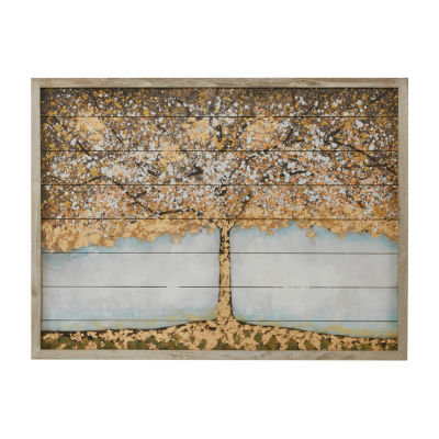 Madison Park Autumn Tree Wood Art With 100% Embellishment Wall Sculpture