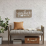 Madison Park Rustic Gather Print On Real Wood Plank Print