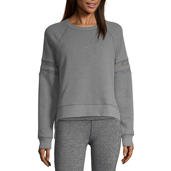 Xersion Mesh Inset Sleeve Sweatshirt