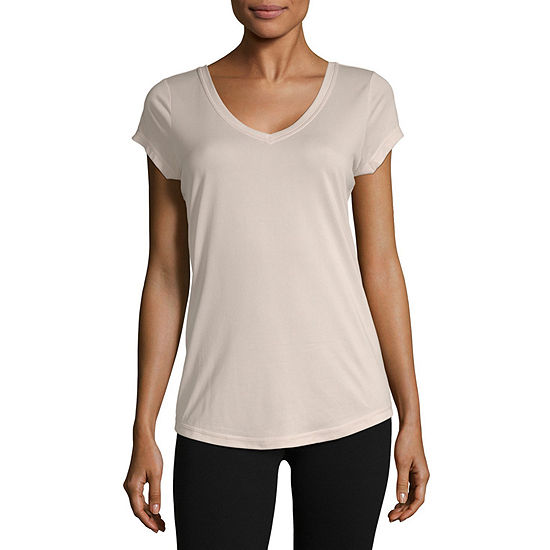 Xersion Ss Performance Tee-Womens V Neck Short Sleeve T-Shirt
