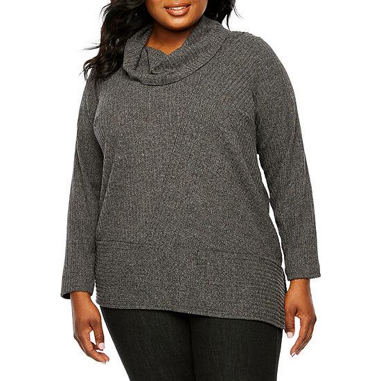 Alyx Long Sleeve Asymmetrical Sweater Plus