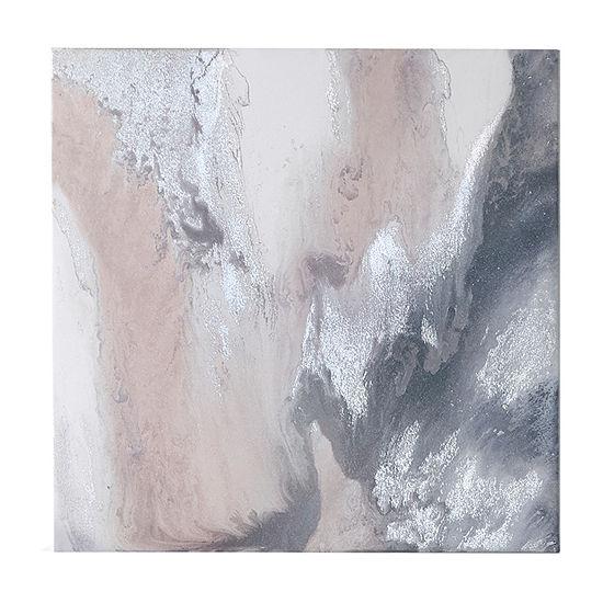 Madison Park Blissful Blush Gel Coat Canvas With Silver Foil Embellishment Canvas Art