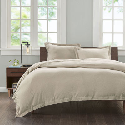 INK+IVY Cotton Jersey Knit Heathered Mini Duvet Cover Set