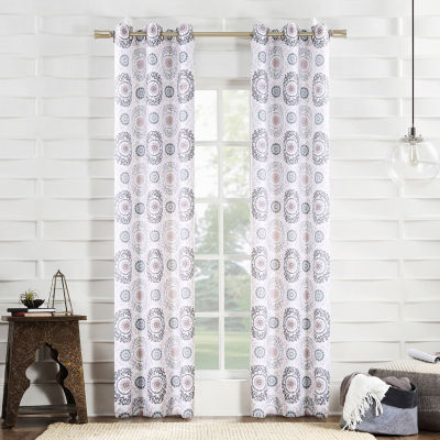 No 918 Valerie Madini Grommet-Top Curtain Panel