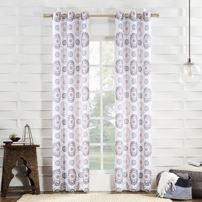 No 918 Valerie Madani Grommet-Top Curtain Panel