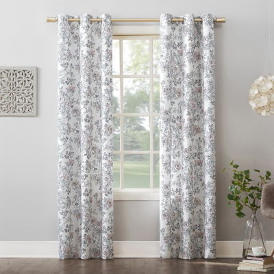 No 918 Valerie Amelle Light-Filtering Grommet-Top Single Curtain Panel