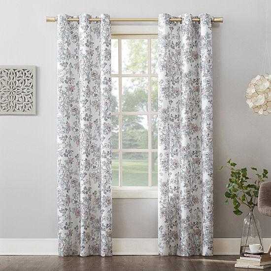 No 918 Valerie Amelle Light-Filtering Grommet-Top Single Curtain Panel