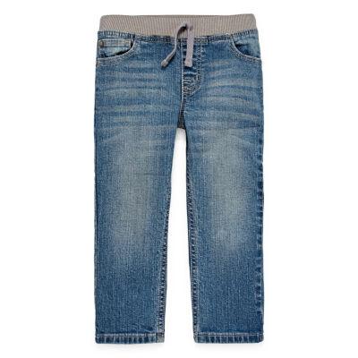 Okie Dokie Toddler Boys Straight Stretch Regular Fit Jean
