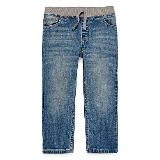 Okie Dokie Toddler Boys Straight Stretch Regular Fit Jean