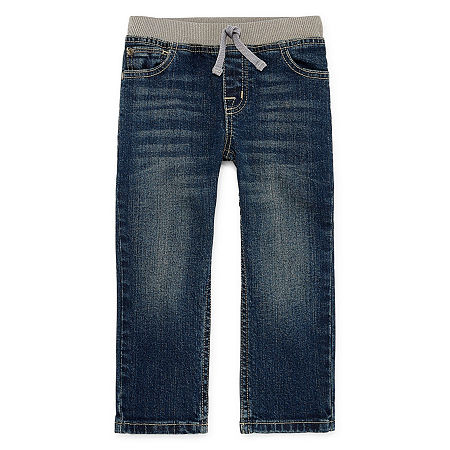 Okie Dokie Toddler Boys Straight Regular Fit Jean, 3t , Blue