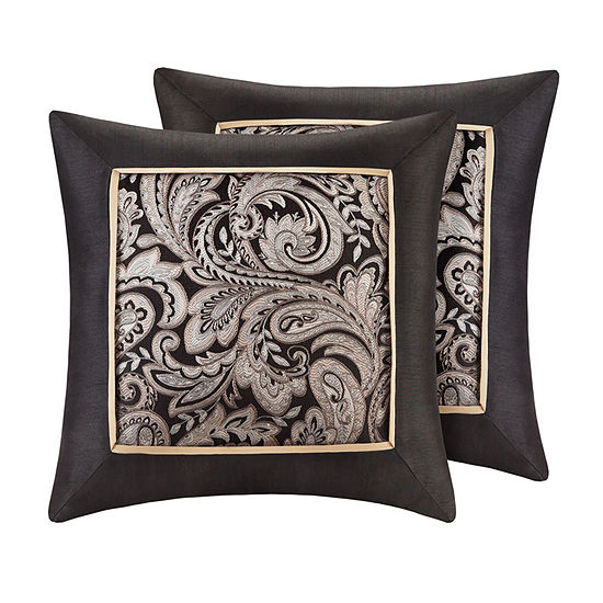 Madison Park Wellington 2-Pack 20x20 Square Throw Pillow