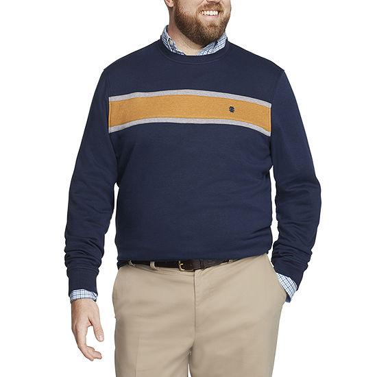 IZOD Big and Tall Advantage Performance Mens Crew Neck Long Sleeve Sweatshirt