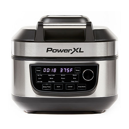 PowerXL 6Qt Grill Air Fryer Combo, One Size , Black
