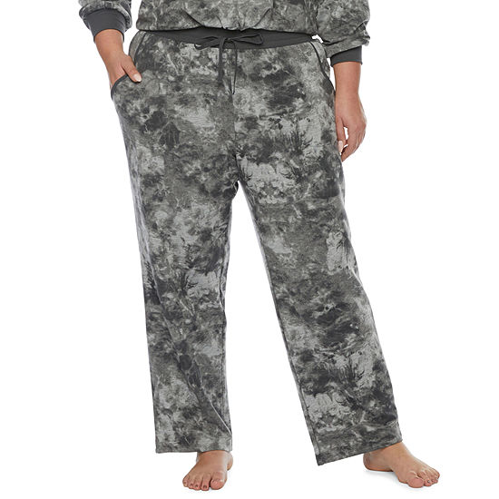 Ambrielle Womens-Plus Fleece Pajama Pants