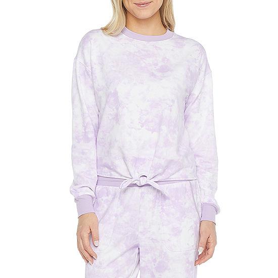 Ambrielle Womens Crew Neck Fleece Pajama Top