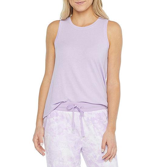 Ambrielle Womens Pajama Top Crew Neck