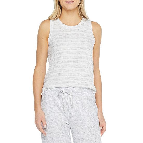 Ambrielle Womens Crew Neck Pajama Top