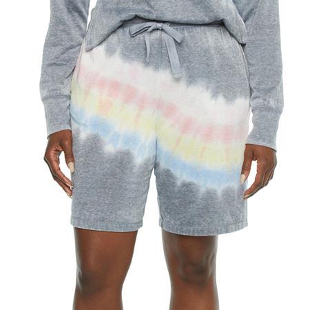 Jaclyn Womens Knit Shorts, Medium , Gray