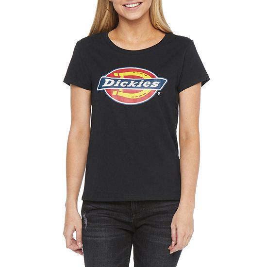 Dickies-Juniors Womens Crew Neck Short Sleeve Graphic T-Shirt