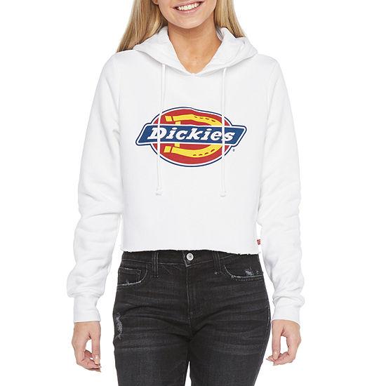 Dickies-Juniors Womens Long Sleeve Fleece Hoodie