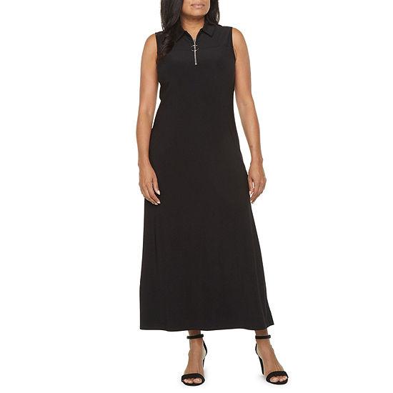 MSK-Petite Sleeveless Maxi Dress