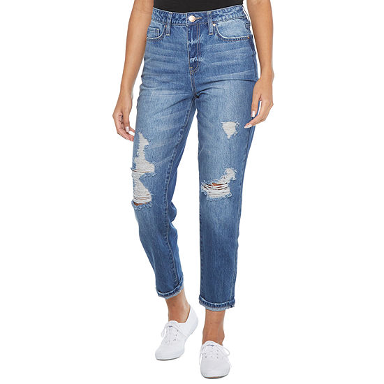 Ymi Womens High Rise Straight Relaxed Fit Jean- Juniors