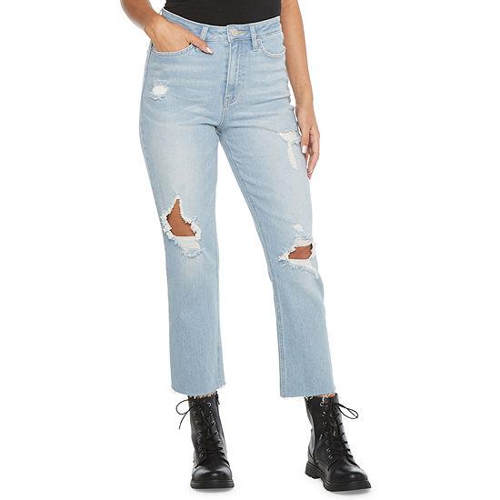 Ymi - Juniors Womens High Rise Straight Leg Jean