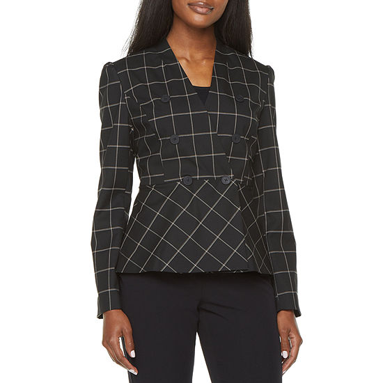 Liz Claiborne Womens Fitted Double Breasted Blazer