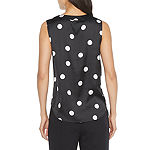 Worthington Womens V Neck Sleeveless Blouse