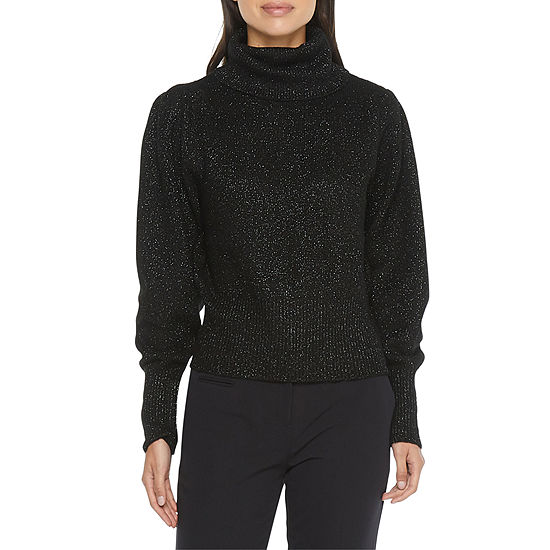 Worthington Womens Turtleneck Long Sleeve Pullover Sweater