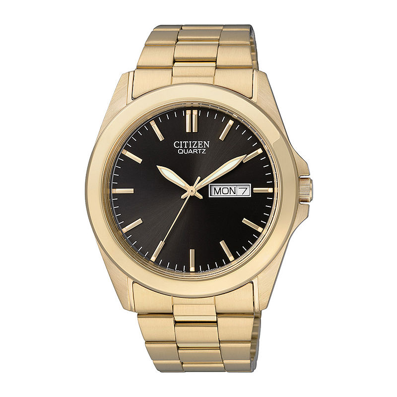 Citizen Mens Gold-Tone Stainless Steel Watch BF0582-51F