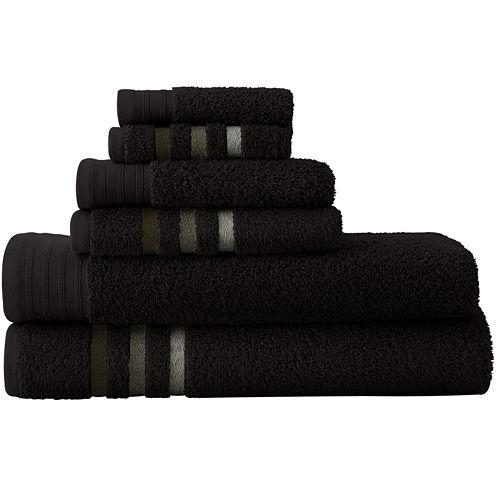 Pacific Coast Textiles™ Ombré Stripe 6-pc. Bath Towel Set