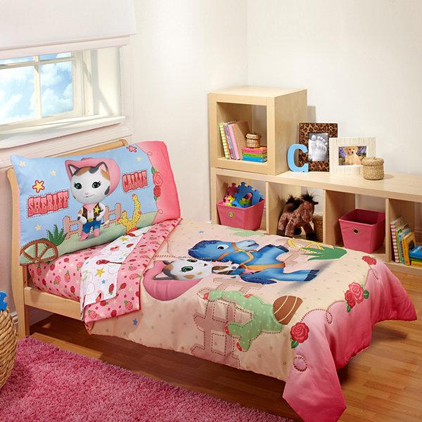 Disney 4 Pc Sheriff Callie Toddler Bedding Set Jcpenney