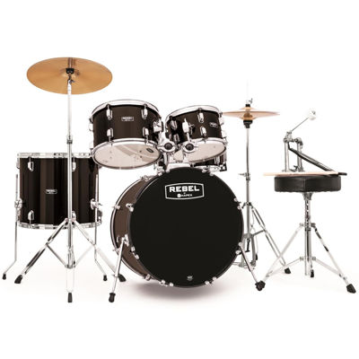 """Mapex RB5044FTCDK Rebel 5-pc. Drum Set with Hardware & Cymbals with 20"""" Bass Drum"""