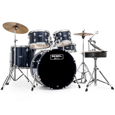 "Mapex RB5044FTCYB Rebel 5-pc. Drum Set with Hardware & Cymbals with 20"" Bass Drum"