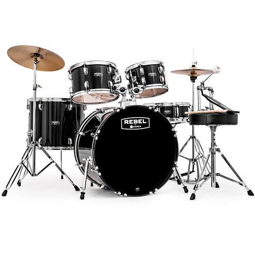 """Mapex RB5294FTCDK Rebel 5-pc. Drum Set with Hardware & Cymbals with 22"""" Bass Drum"""