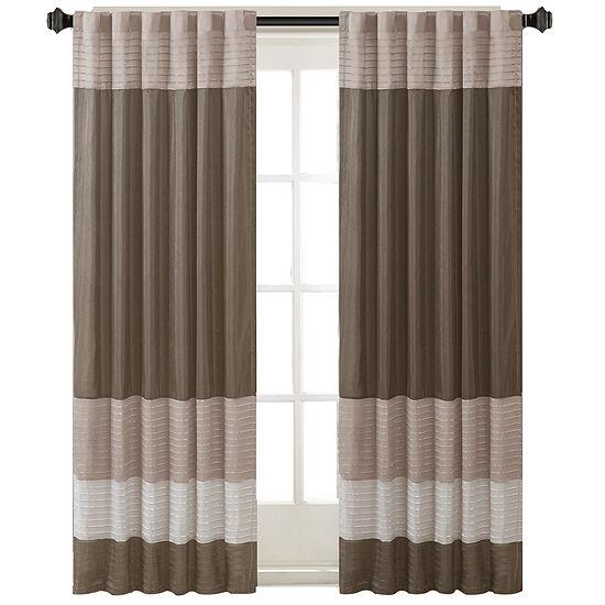 Eastridge Polyoni Pintuck-Striped Rod-Pocket Curtain Panel