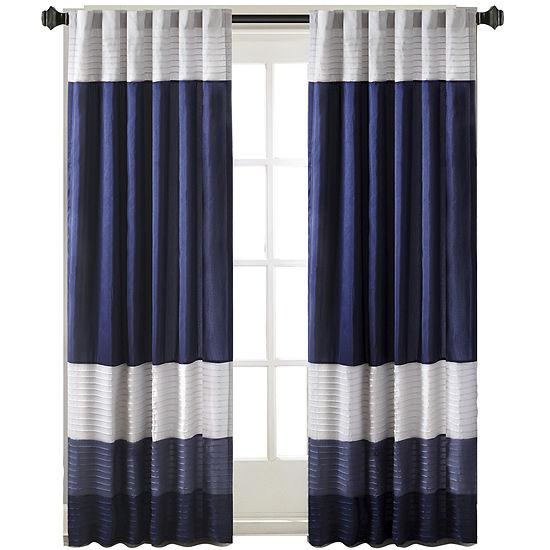 Amador Polyoni Pintuck-Striped Rod-Pocket Curtain Panel