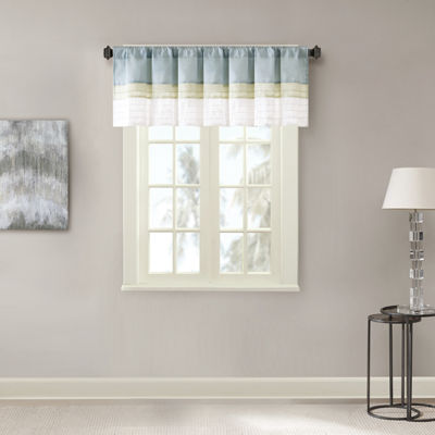 Chester Polyoni Pintuck-Striped Rod-Pocket Valance