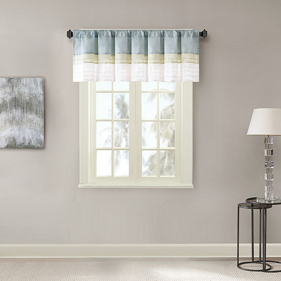 Chester Polyoni Pintuck Striped Rod Pocket Valance