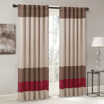 Tradewinds Polyoni Pintuck-Striped Rod-Pocket Curtain Panel