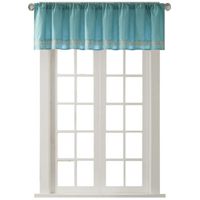 Tara Cotton Embroidered Rod-Pocket Valance