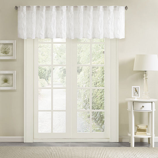 Madison Park Kida Embroidery Rod-Pocket Tailored Valance