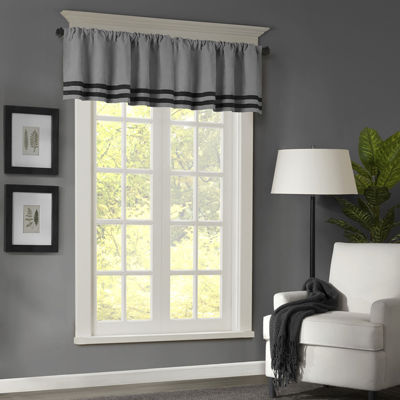 Meyers Microsuede Striped Rod-Pocket Valance