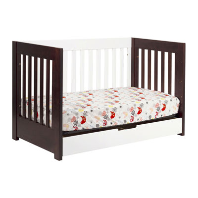 Babyletto Mercer 3-In-1 Convertible Crib - Espresso and White
